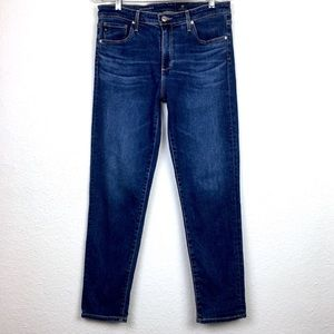 AG The Stevie Ankle High-Rise Slim Straight Jeans